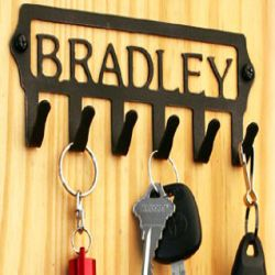 Custom Wrought Iron Key Holder