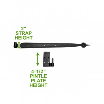 pintle hinge spear black wrought iron