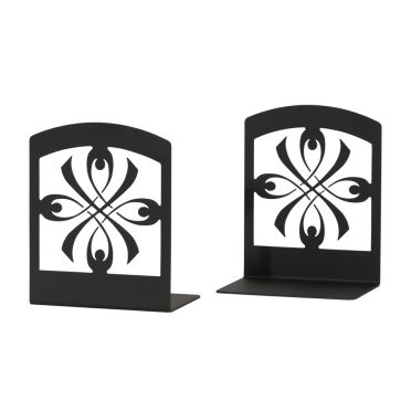 Wrought Iron Ribbon Bookends