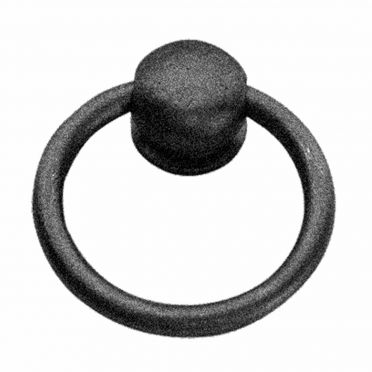 Wrought Iron Mission Cabinet Hardware Ring Pull 2 inch