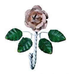 Single Hook Multi Colored Rose 7-1/2 Inch
