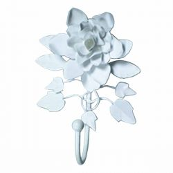 Single Hook White Rose 8 Inch