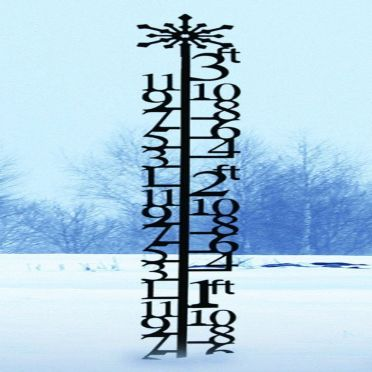 Wrought Iron Snow Gauge -Snowflake 3 Foot