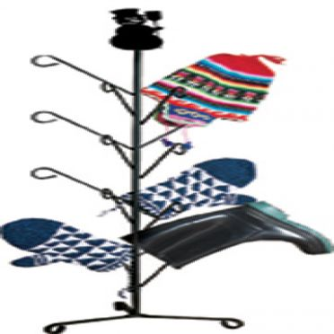 Wrought Iron Snowman - Mitten or Boot Dryer Holds 8 Pair | 39 inch