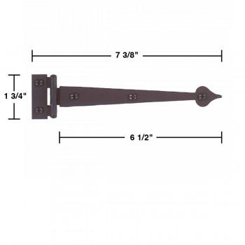 strap hinge black wrought iron door hinges strap hinge spear flush 7 3