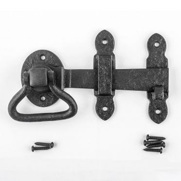 Wrought Iron Colonial Style Turn Latch Set 5-1/2 Inch