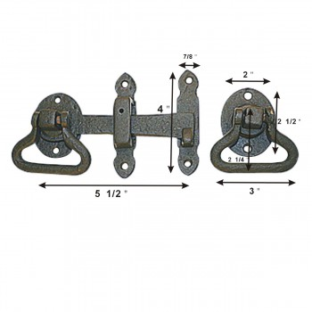 turn latch black wrought iron wrought iron turn latch 5 12 in