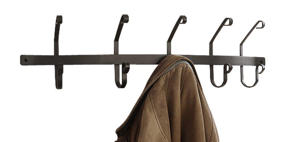 Wrought Iron 5 Hook Coat Rack Wall Mounted