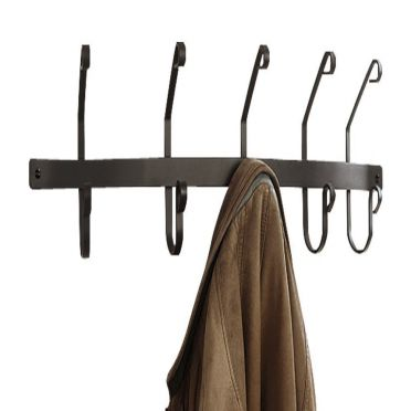 Wrought Iron 5 hook Coat Rack | Wall Mounted