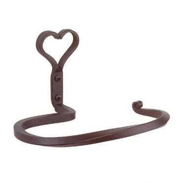 Wrought Iron Towel Ring 7 1/2 Inches | Heart