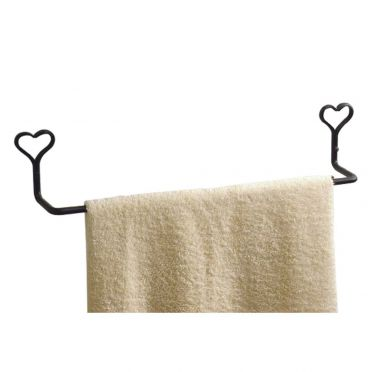 Wrought Iron Towel Bar 26-3/4 Inches | Heart