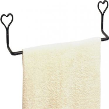 Wrought Iron Towel Bar 30 Inches | Heart