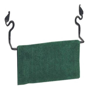 Wrought Iron Towel Bar 18 Inches | Leaf