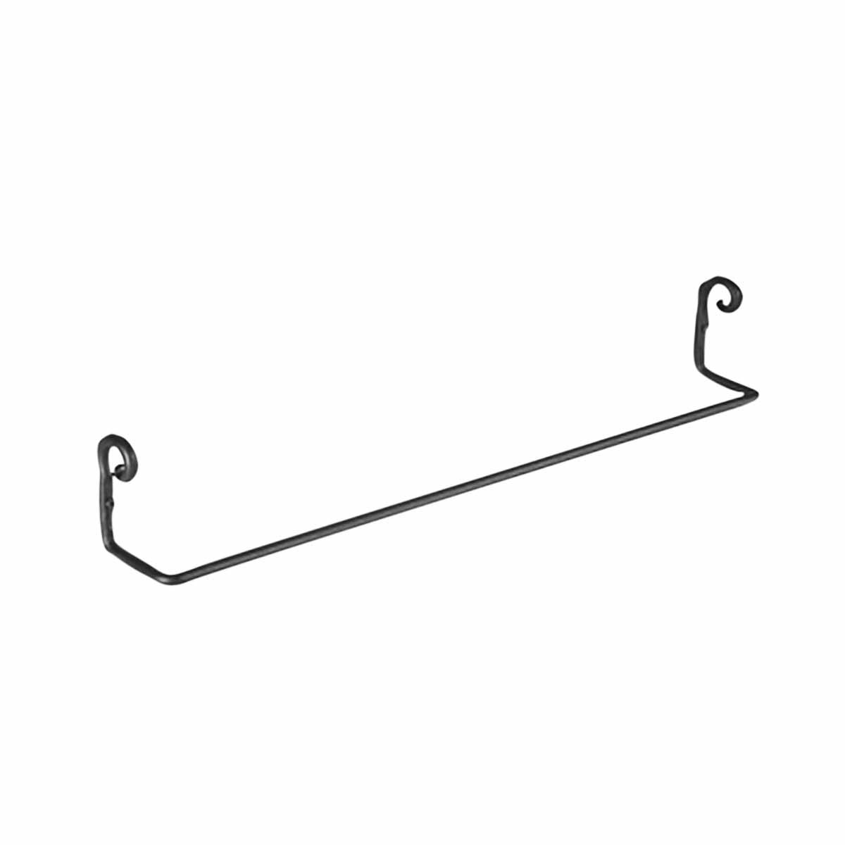 Wrought iron towel bar 30 7 8 inches pigtail for Wrought iron bathroom towel bars