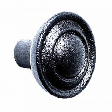 Wrought Iron Round Center Ball Cabinet Knob 1-1/4 Inch