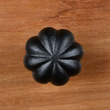 Wrought Iron Round Floral Cabinet Knob 1-1/4 Inch