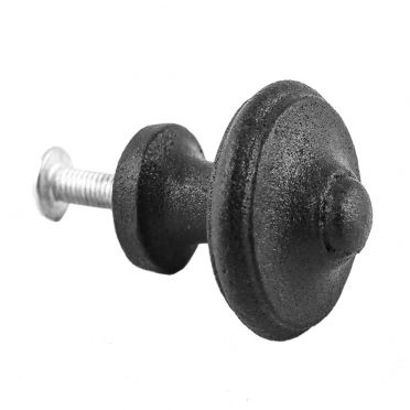 Wrought Iron Textured Round Bevel Cabinet Knob 1-1/2 inch
