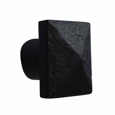 Wrought Iron Textured Square Cabinet Knob 1-1/4 inch