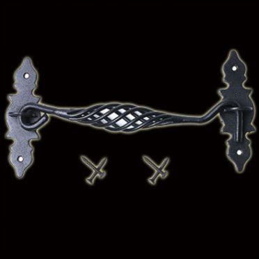 Iron Cabinet Hook | Birdcage Door Latch | 8 inch