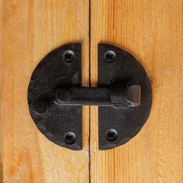 Wrought Iron Circular Cabinet or Door Latch