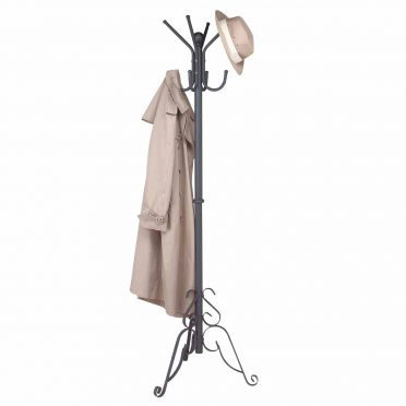 Black Aluminum Coat Rack | Scroll Stand