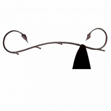 Wrought Iron Coat Rack | Wall-Mounted | Leaf
