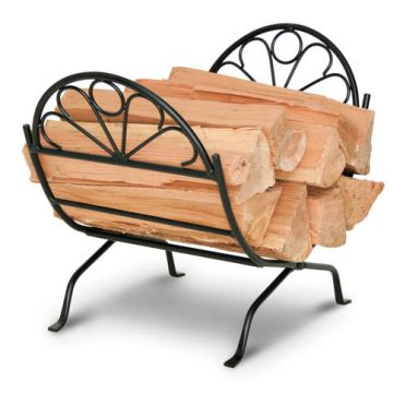 Wrought Iron Colonial Firewood Holder