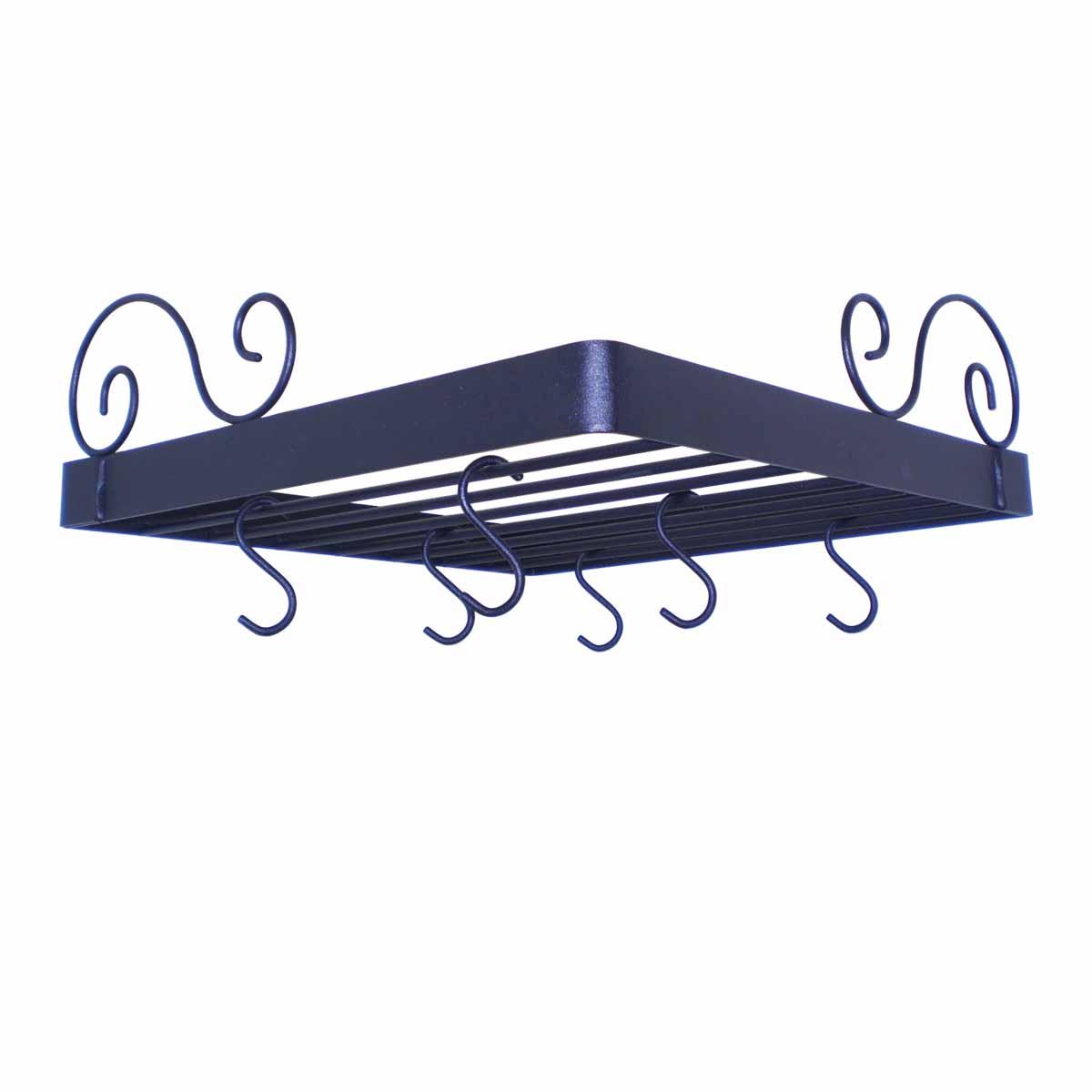 Wrought Iron Corner Pot Rack | Fan Style