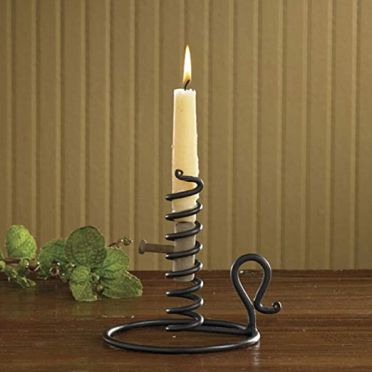 Wrought Iron Courting Candle