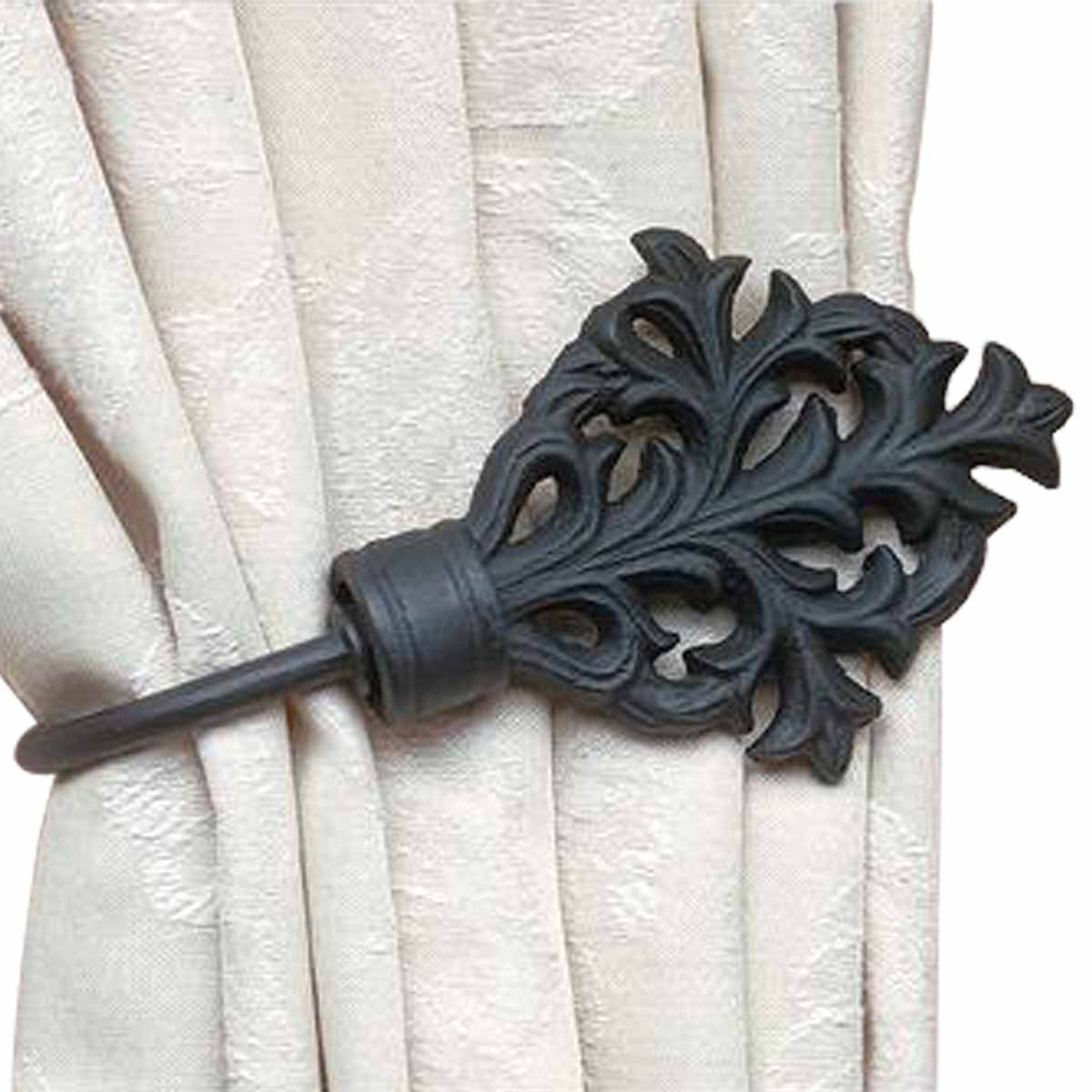 Wrought Iron Curtain Rods Celtic Leaf