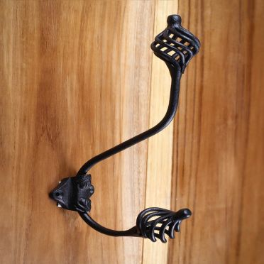 Wrought Iron Double Birdcage Coat Hook
