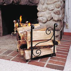 Fireplace Log Holder | Scroll