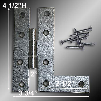 wrought iron flush mounted HL cabinet hinge