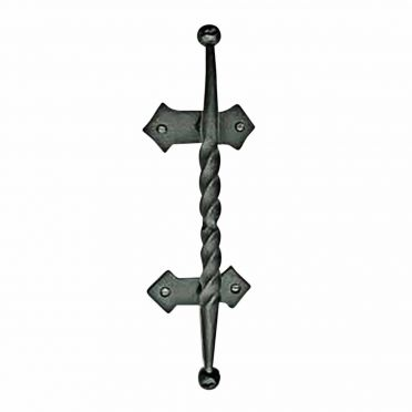 Wrought Iron Gate and Door Pull | Twisted | Large