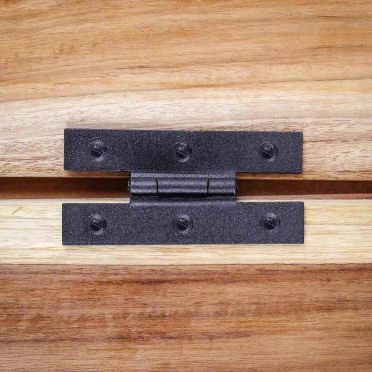 Wrought Iron H Cabinet Hinge 3/8 Inch Offset