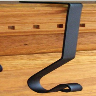 Wrought Iron Mantel Hook | 8 inch |  Mantle Hanger