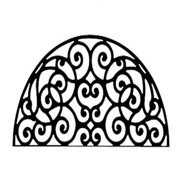 Wrought Iron Metal Wall Decor Half Round Circle Scroll