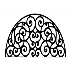 139 48 118 20 Metal Wall Decor Half Round Circle Scroll