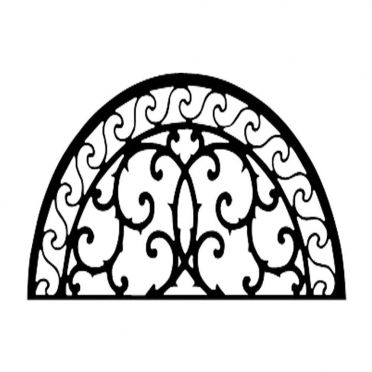 Wrought Iron Metal Wall Decor Half Round Scroll