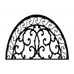 Metal Wall Decor Half Round Scroll