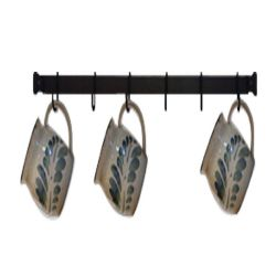 Mug Rack | Wall-Mounted | 24 inches with 6 Cup Hooks