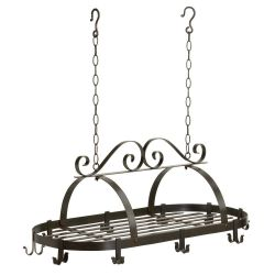 Oval Pot Rack Hanging Kitchen