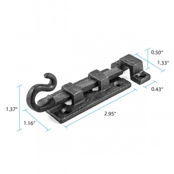 wrought iron scroll slide bolt alt