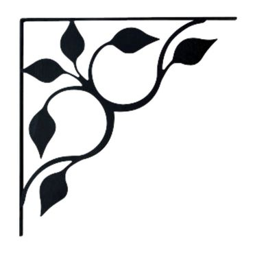Wrought Iron Shelf Brackets Leaf Design Small