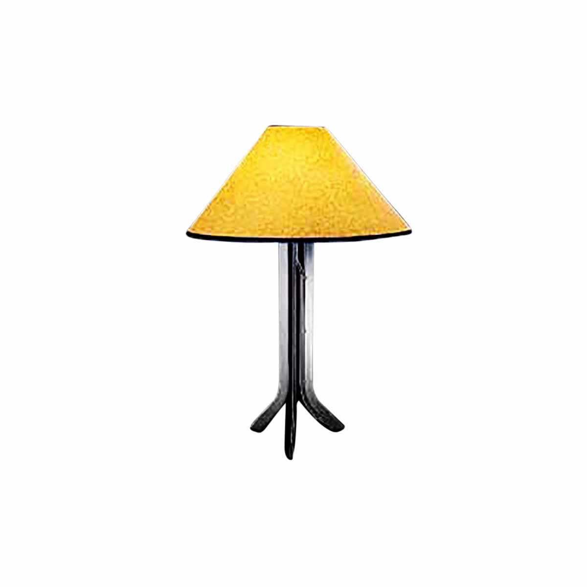 Wrought iron table lamp contemporary with amber paper shade mozeypictures Image collections