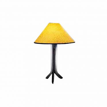 Wrought Iron Table Lamp | Contemporary | with Amber Paper Shade