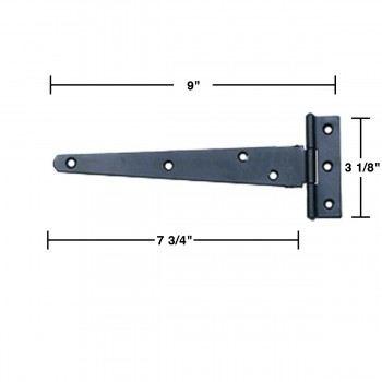 wrought iron tee hinge 9 in