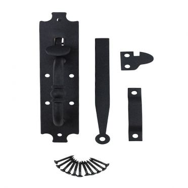 Wrought Iron Thumb Latch Set | Colonial Norfolk | 8 inch