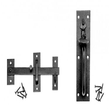 Wrought Iron Thumb Latch Set | Colonial Suffolk | 7 inch