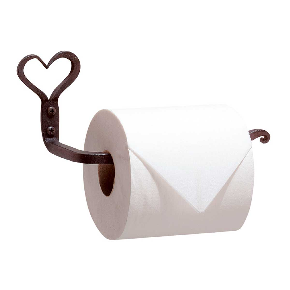 Wrought Iron Toilet Paper Holder Heart Small